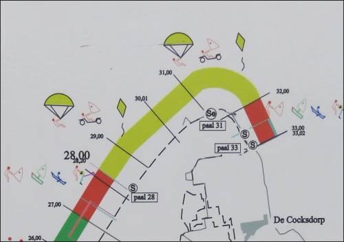 Karte Texel.Revierkiter Holland Texel